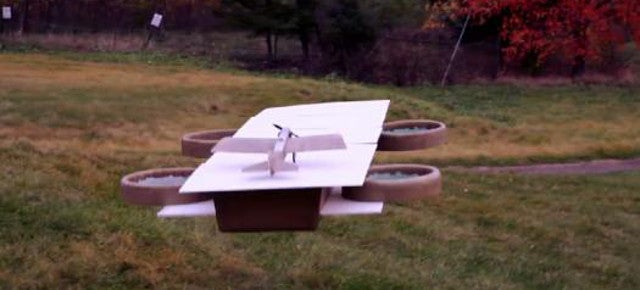 Watch This Carrier Drone Let Another Drone Take Off From It