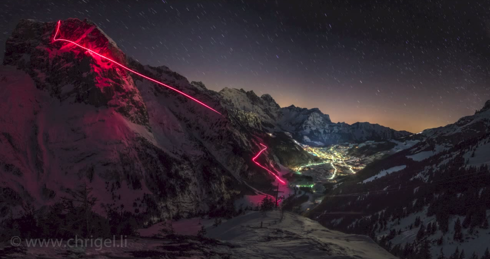 Insane night wingsuit flight results in this spectacular picture