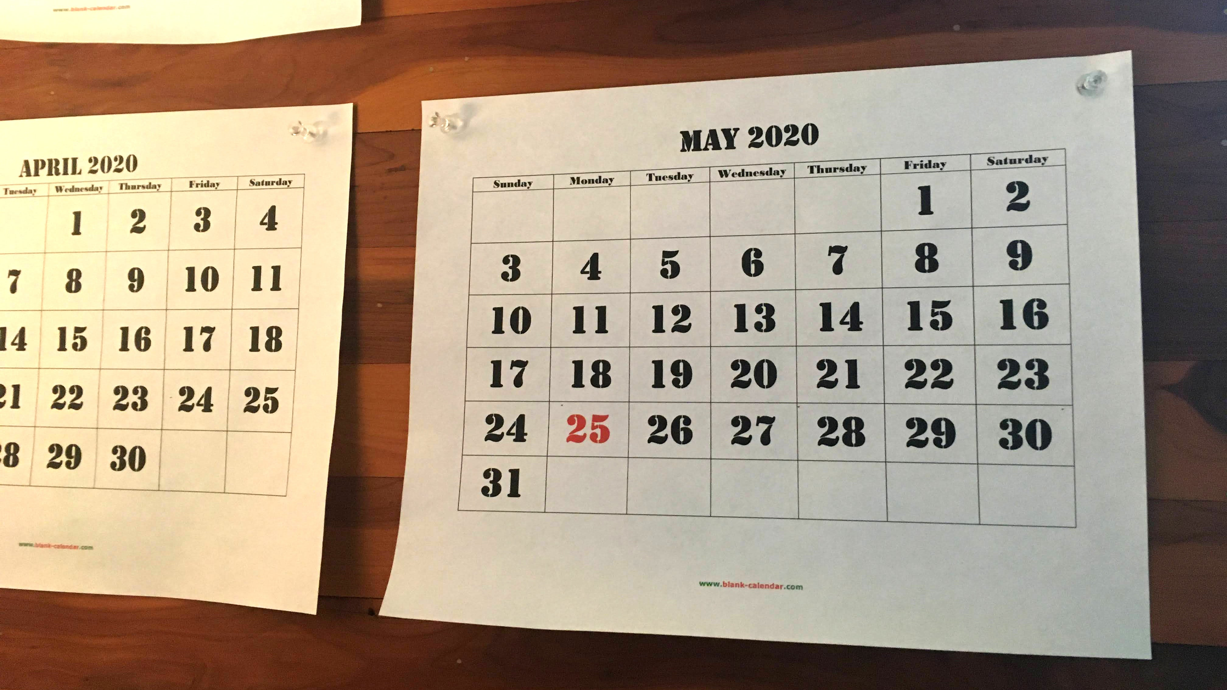 Print Your Own Blank Calendars