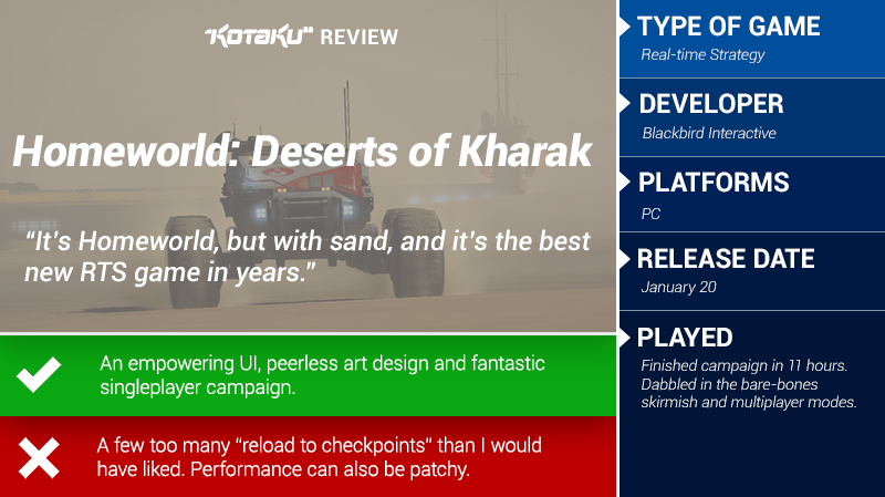 Homeworld: Deserts of Kharak: The Kotaku Review