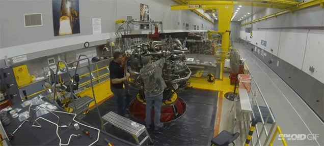 Neat time lapse of NASA assembling the space shuttle engine, the RS-25