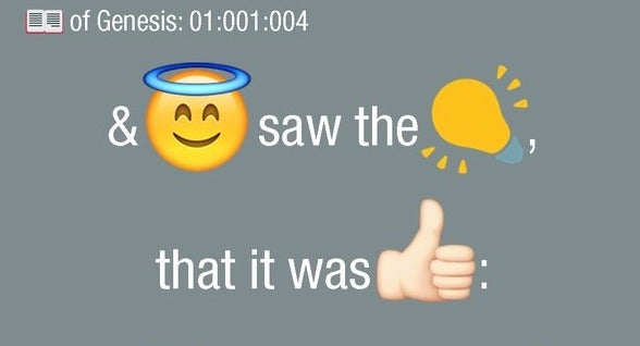 And God Said, 'Let There Be Emojis.'