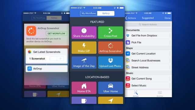 Workflow Automates Any Task on iOS