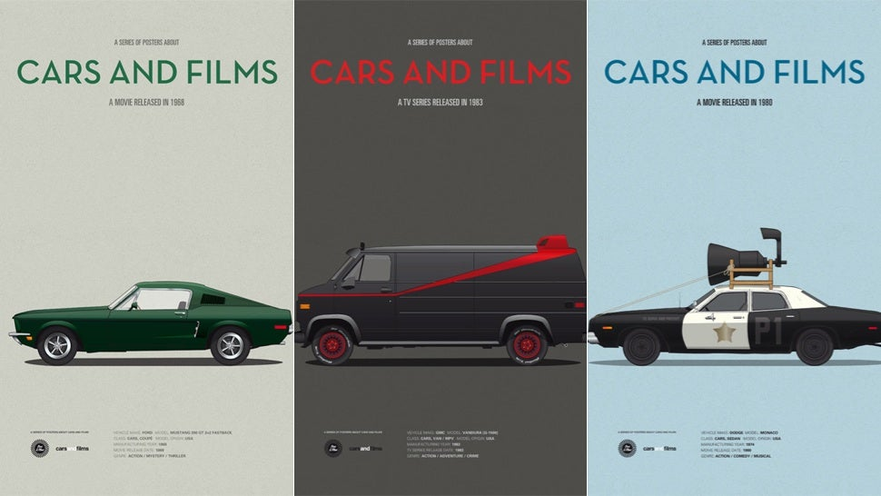 These Posters Immortalise the Cars From Your Favourite Films