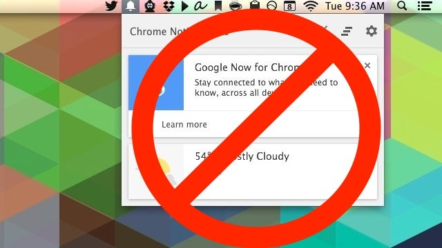 How to Disable Chrome's Google Now Notifications