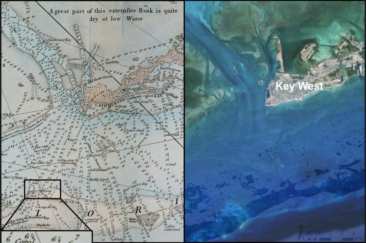 240-Year-Old Nautical Maps Reveal How Badly We've Screwed Up Florida's Reefs