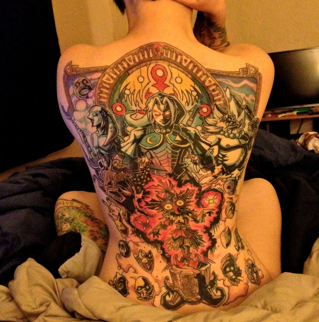 Zelda Tattoo Covers This Woman's Entire Back