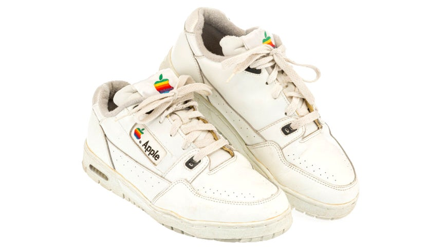 A Classic Pair Of Apple-Branded Sneakers Just Sold For Over $16,000