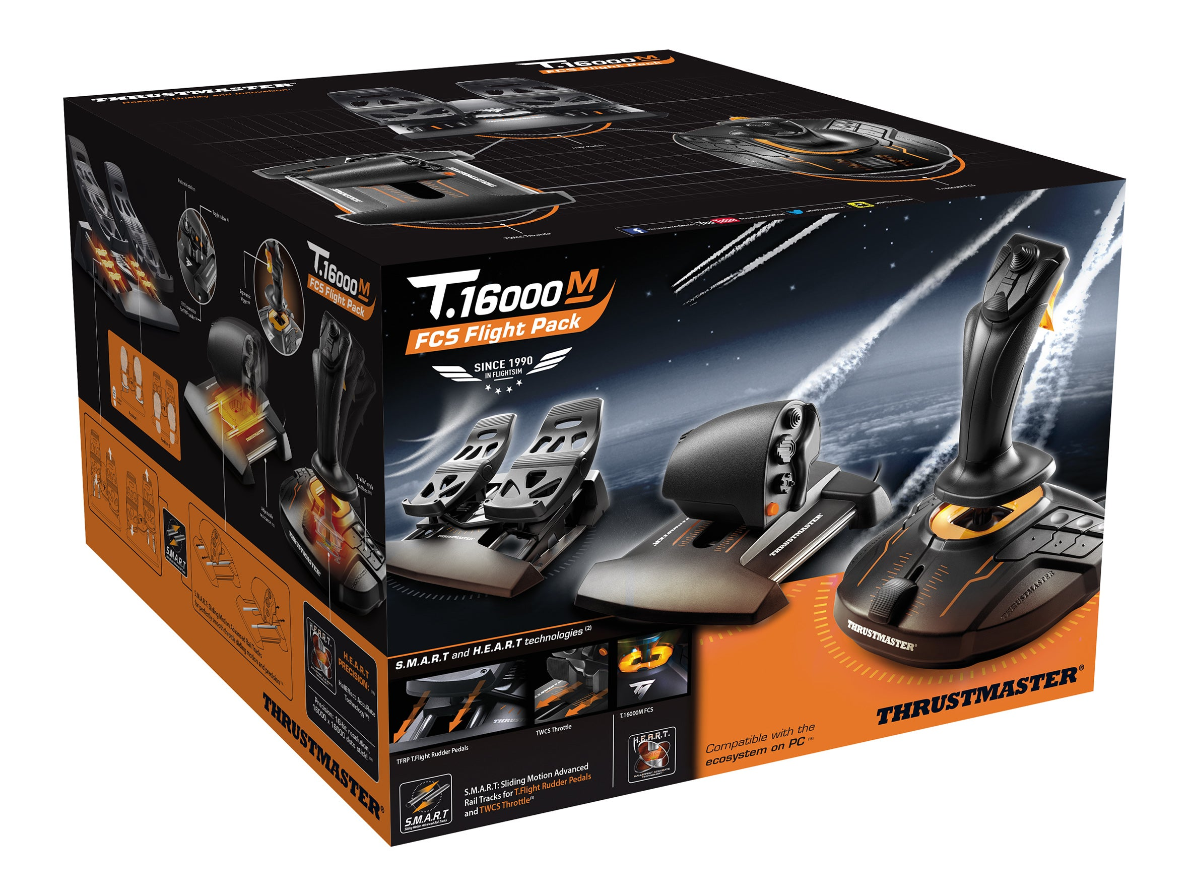 Thrustmaster T 16000M FCS Flight Pack Review: PC Aviation
