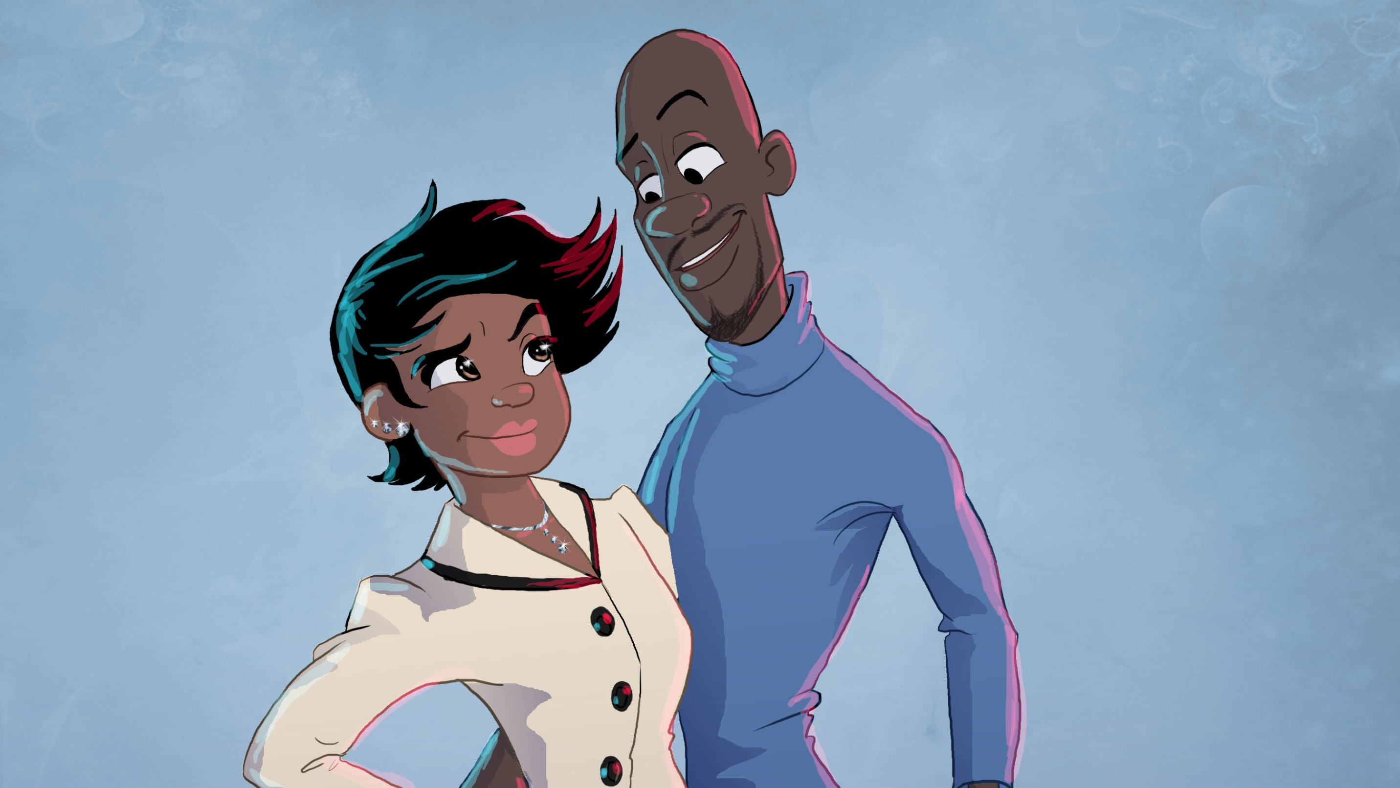 Frozone's Wife And Kids Come To Life In This Incredibles Fan Art