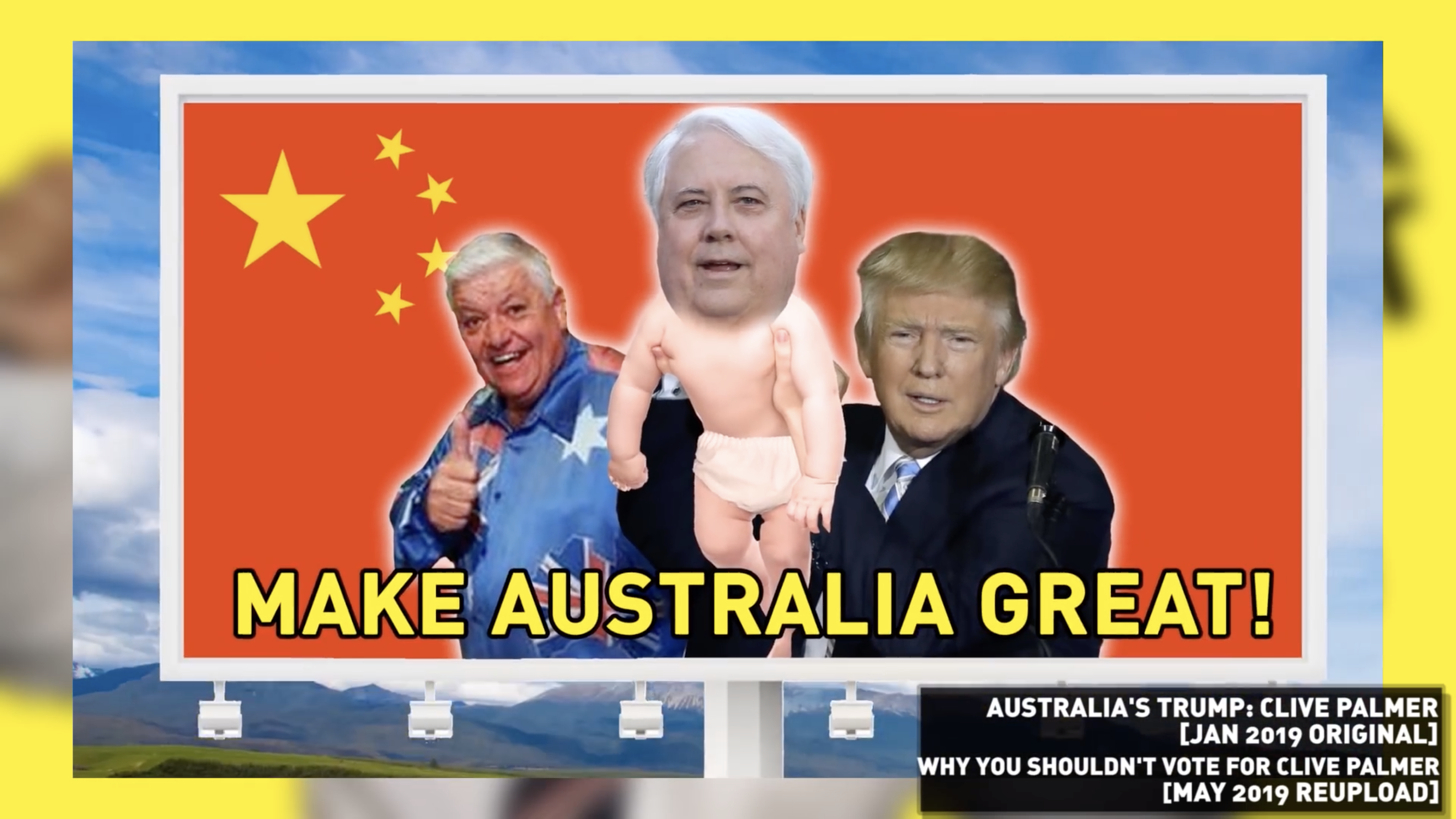 Clive Palmer Threatens To Sue Friendlyjordies For Calling Him 'Fatty McFuckhead' And Photoshopping Him As Trump's Baby