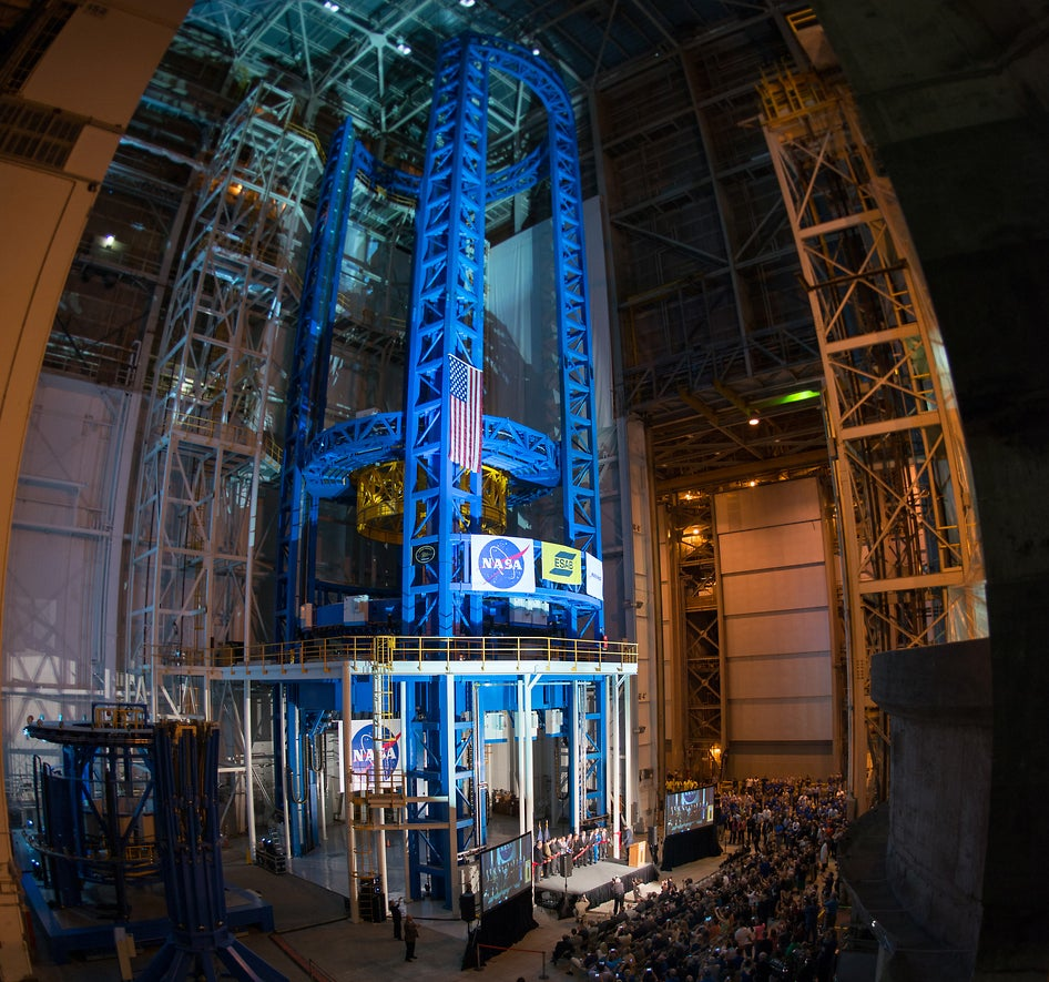 This is the largest spacecraft welding machine in the world