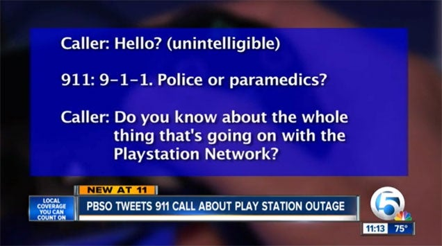 Kid Calls 911 Over PlayStation Network Outage