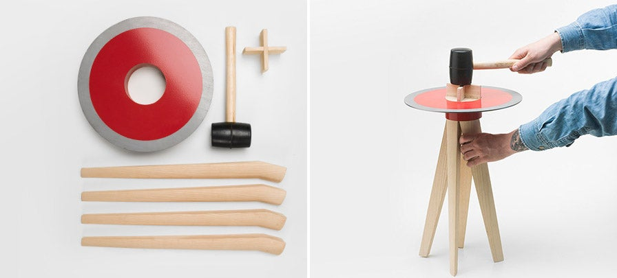 Assembling This Stool Could Drive a Wedge Between You and It