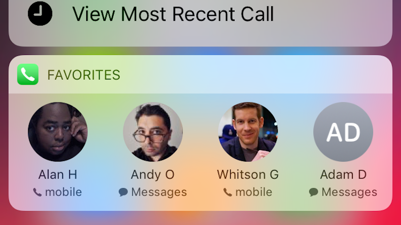 Reorder Your iPhone's Favourites List To Adjust Who Appears In The 3D Touch Shortcut