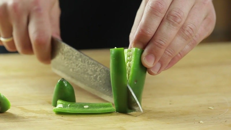 Easily Seed Chillies With A Few Quick Cuts