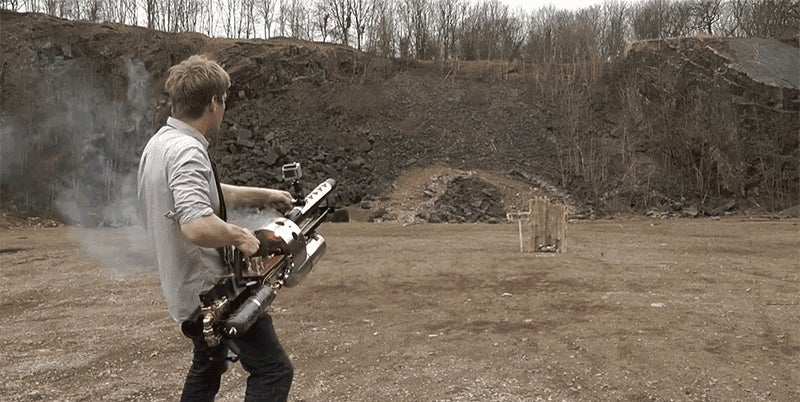 A Wannabe Supervillian Built His Own Thermite Cannon
