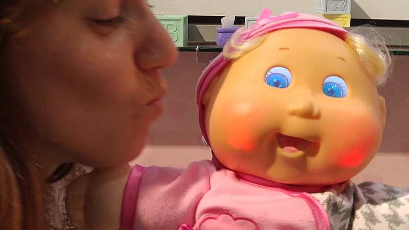Tiny LCD Screen Eyes Make Cabbage Patch Kids Infinitely More Expressive