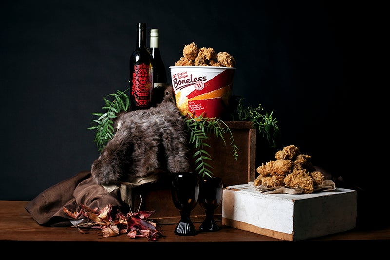 Hilarious photographs recreate Renaissance paintings with junk food