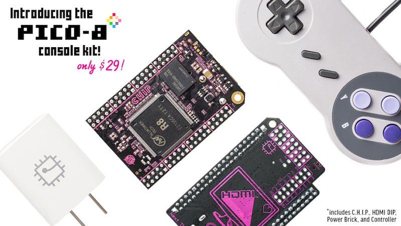 The CHIP Gets Game Design Software PICO-8 For Free, Introduces The $39 Game Making Console Kit