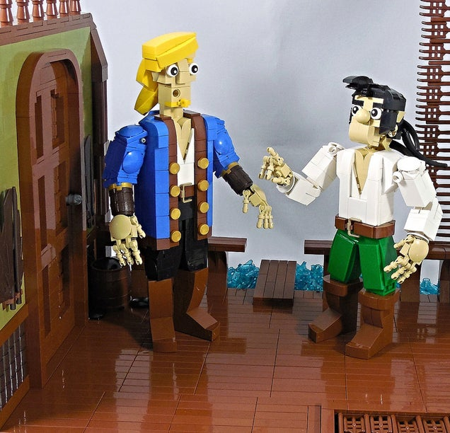 Memorable Monkey Island 2 Scene Rebuilt with LEGO