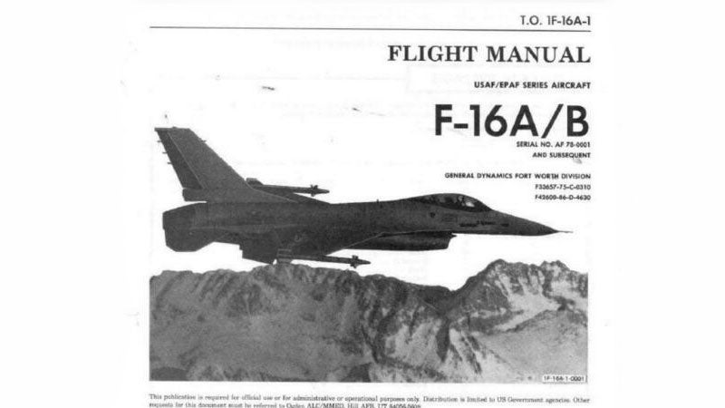 Flight Sim Developer Arrested For Selling F-16 Manuals [Update]