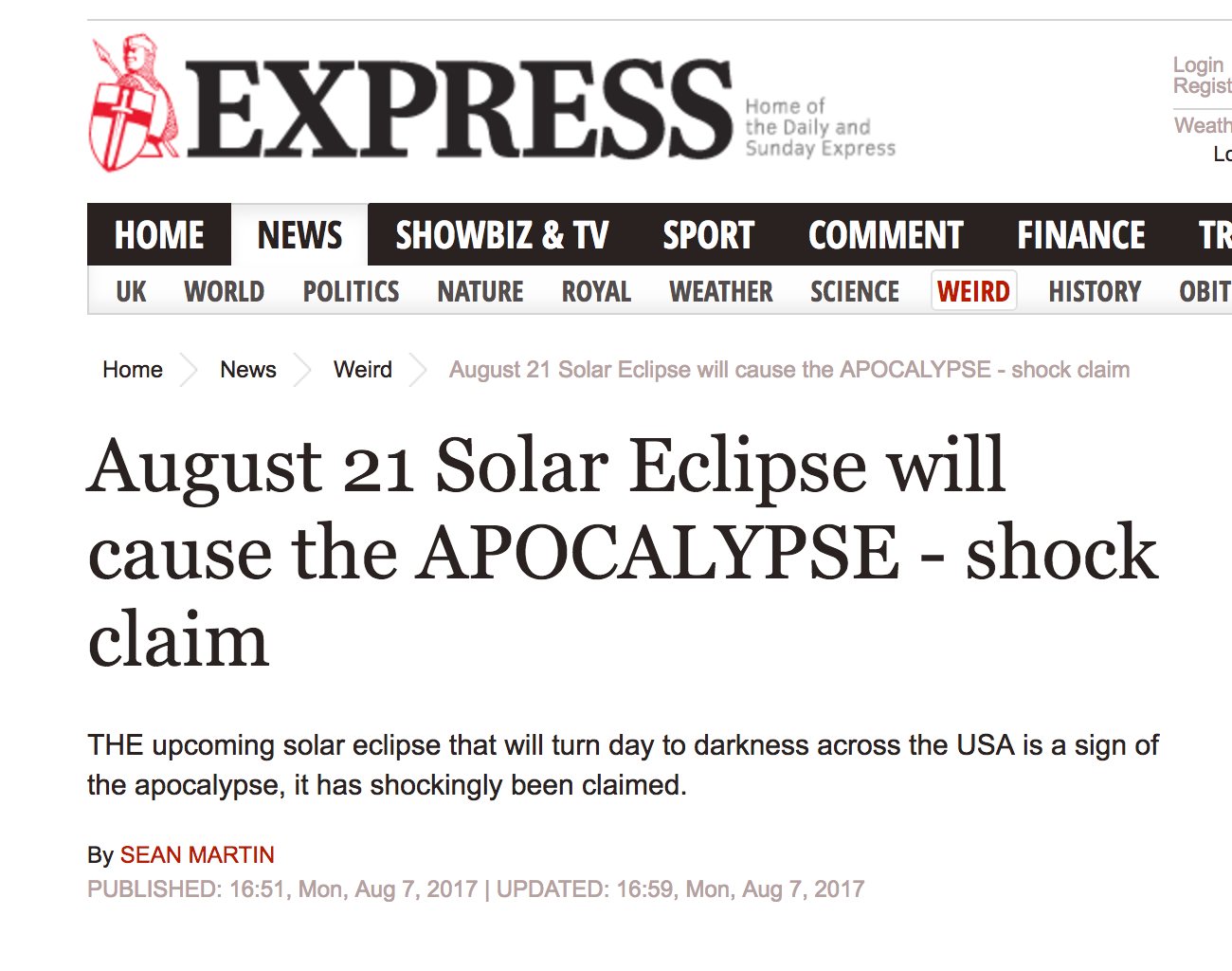 A Solar Eclipse (Probably) Won't Get You Laid (Or Murdered) (But It