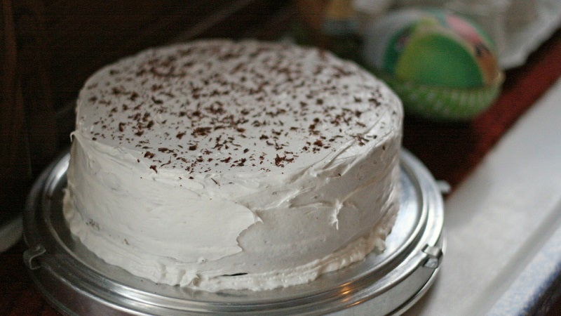 Make Frosting A Cake Easier By Chilling It In The Refrigerator Beforehand