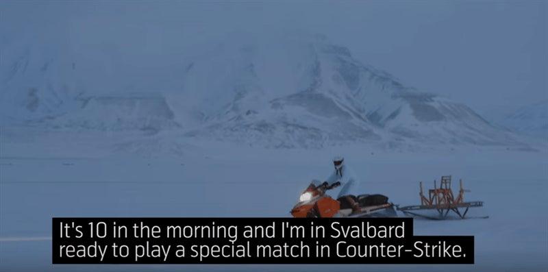 Norwegian Dudes Freeze For Counter-Strike Stunt