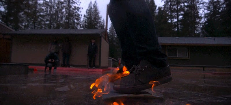 Watch Daredevils Land Skate Tricks While Their Boards Are on Fire