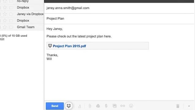 Dropbox for Gmail Easily Adds Dropbox Files to Emails