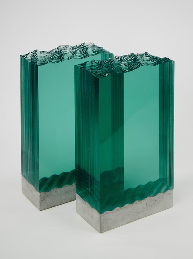 This Artist Sculpts Panes of Glass Into 3D Oceans