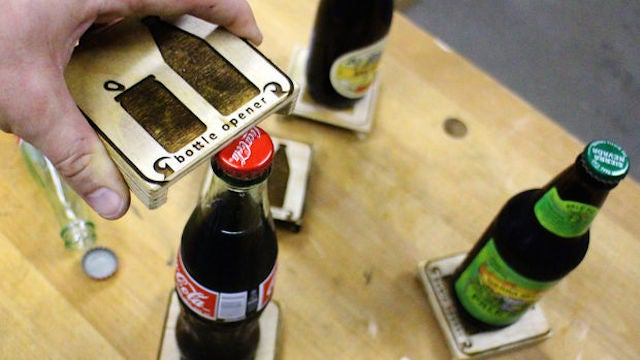 Attach Bottle Openers to the Bottom of Coasters