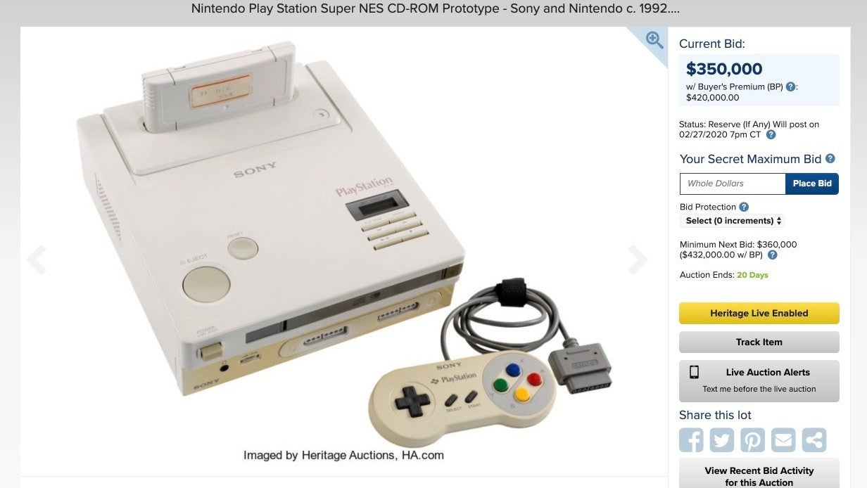 You'll Never Guess Who Has One Of The Top Bids On That Rare Nintendo Playstation