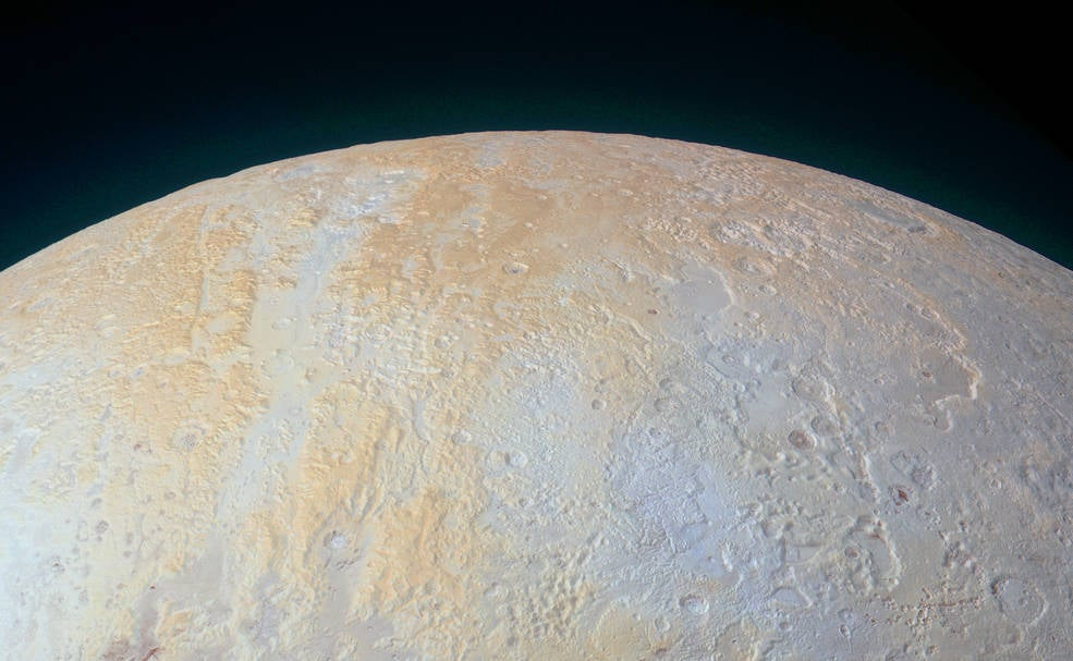 Pluto's North Pole Is Surrounded By Frozen Canyons