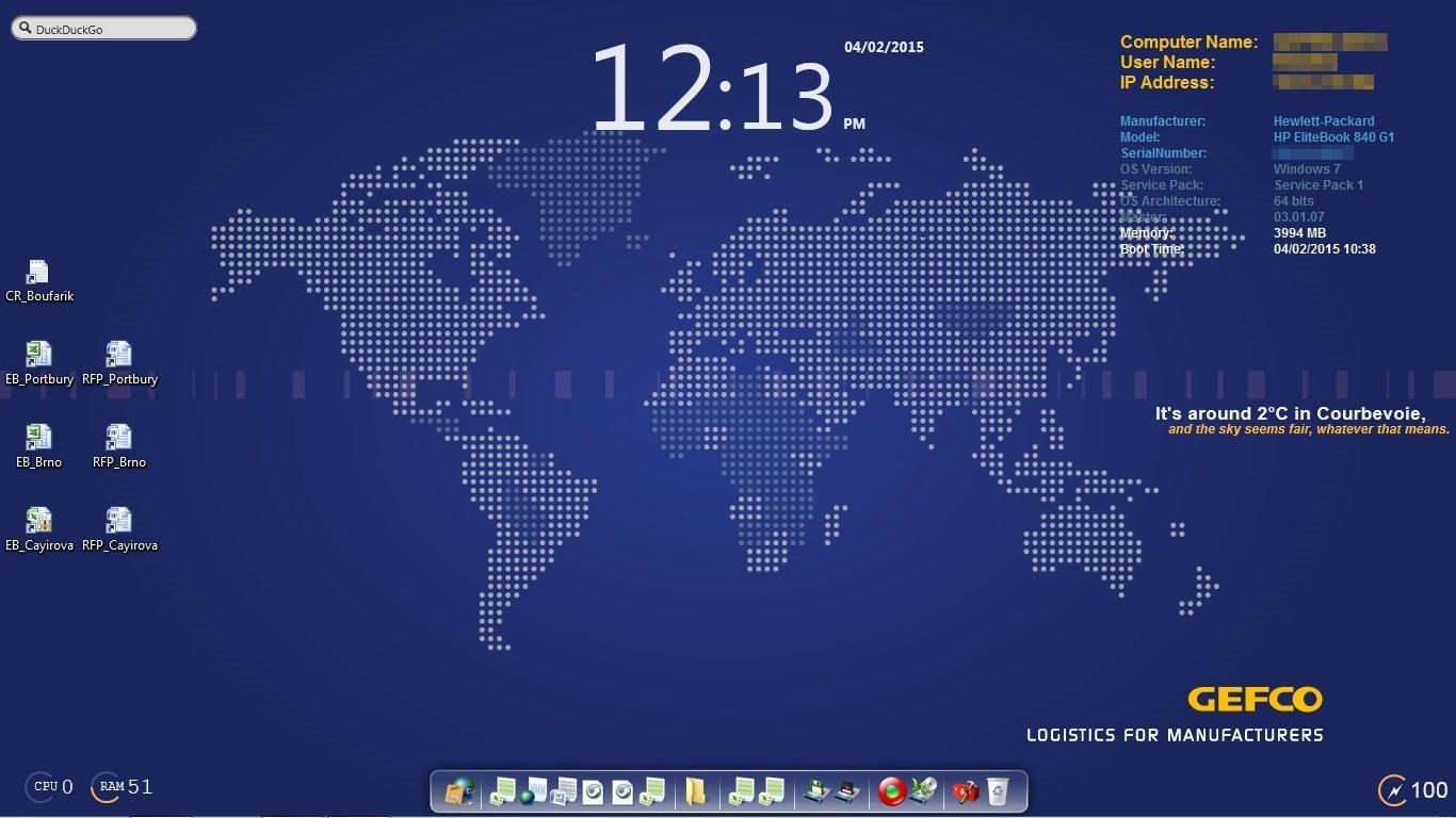 The Global Monitor Desktop