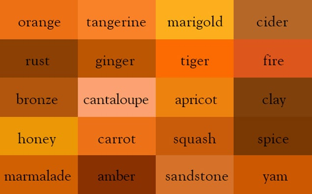 These neat charts will help you name the colours properly