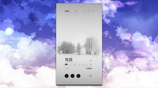 The White Winter Home Screen