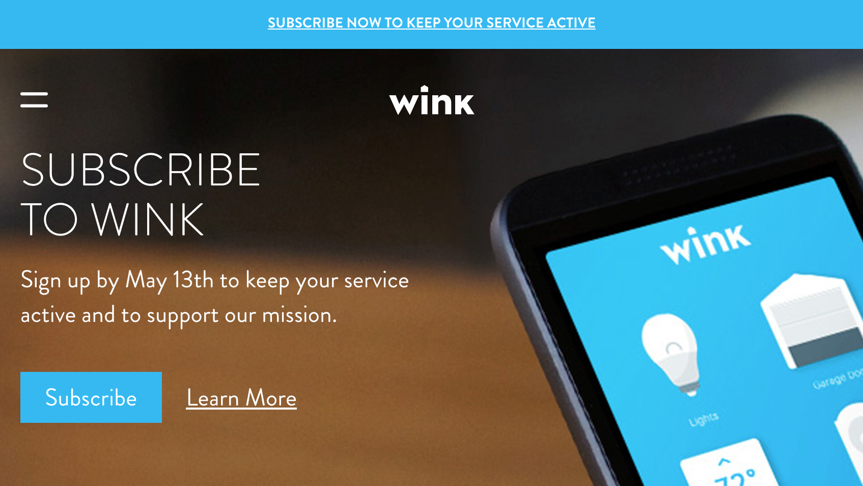 Wink Pulls Ultimate Dick Move By Forcing Users Into Mandatory Subscriptions