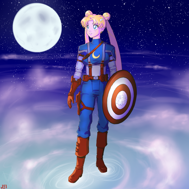Somehow, Sailor Moon Characters As The Avengers Works