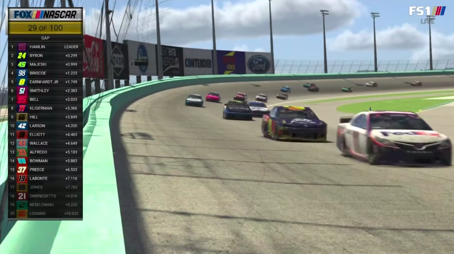 Professional NASCAR Drivers Competed In A Virtual Race And It Was Pretty Damn Epic