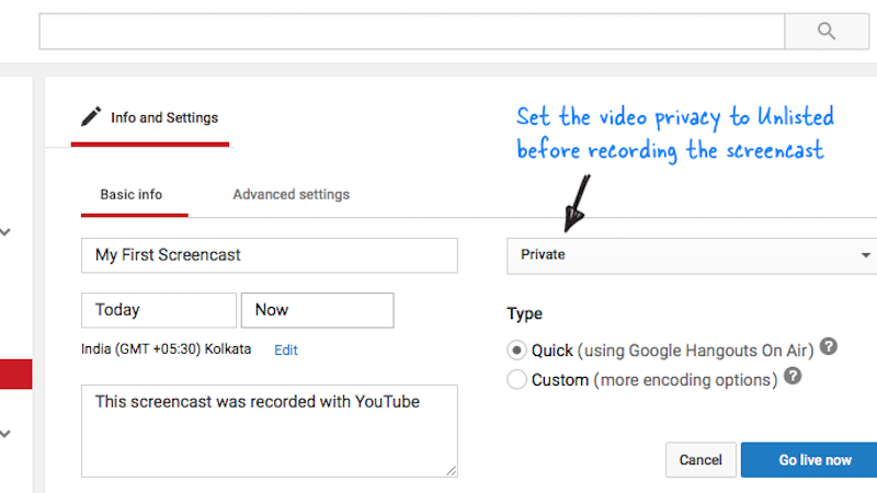 Record a Screencast with Nothing but YouTube