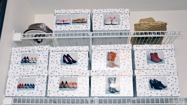 Find Your Shoes By Putting Pictures on Storage Boxes
