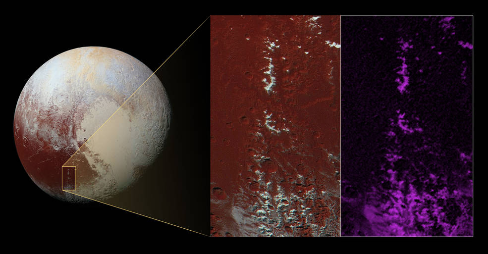 Pluto Might Be Home To Methane-Covered Mountain Peaks