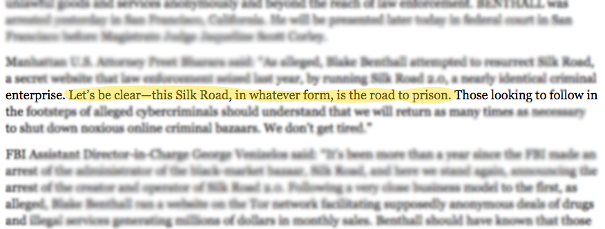 The FBI's Silk Road Takedown Notice Is Sassy as Hell