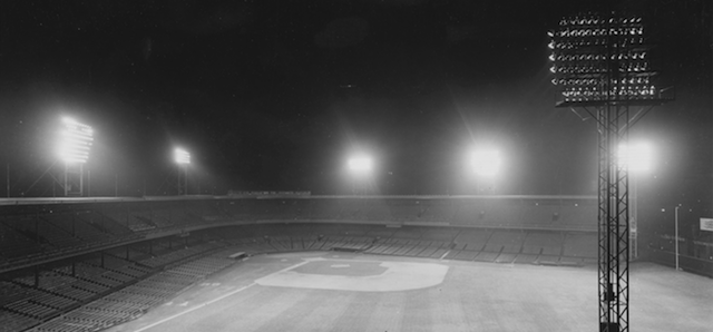 How Baseball's First Major League Night Game Got Its Lights