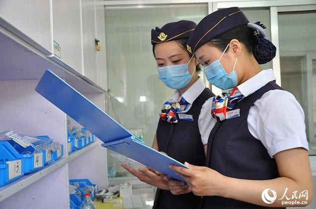 Nurses Cosplay as Flight Attendants at a Chinese Hospital