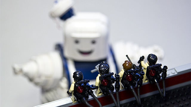Ghostbusters LEGO, With Giant Marshmallow Man Added