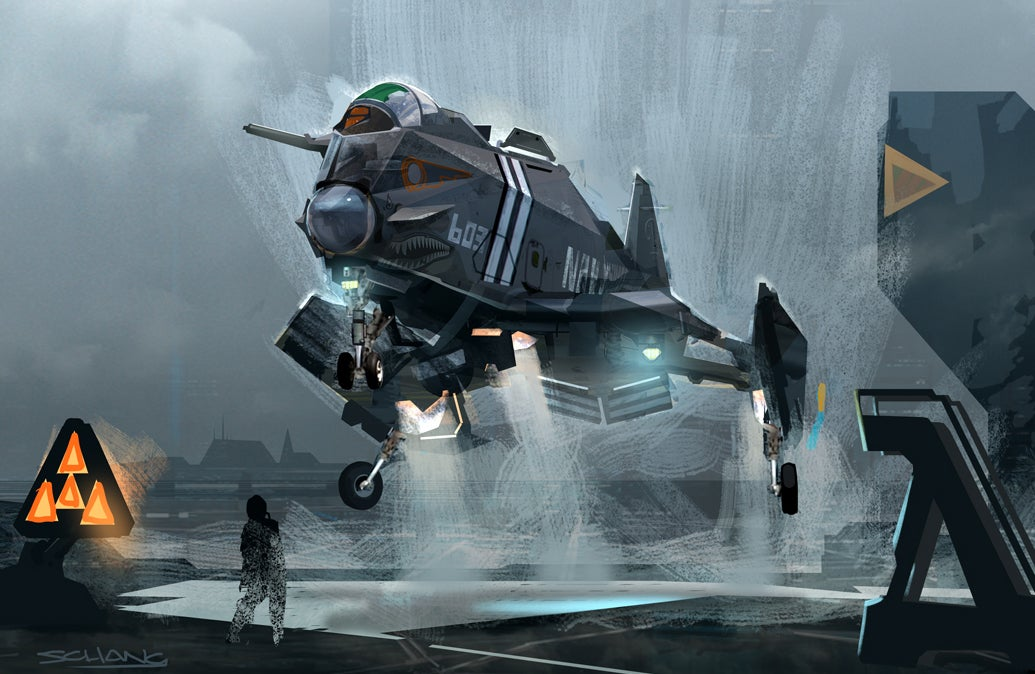 The futuristic jets, humans, and Star Wars designs of Stephen Chang