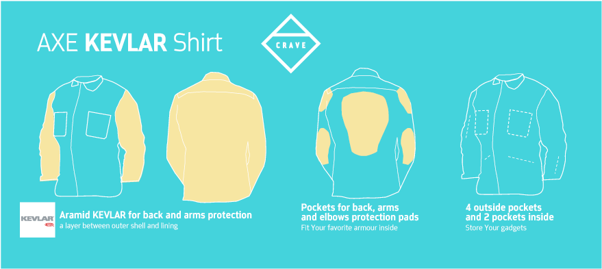 With a Kevlar-Lined Shirt, You're Not Completely Screwed in a Crash